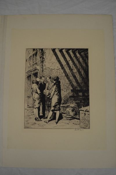 MARTIN LEWIS FIRST STATE PENCIL SIGNED DRY POINT