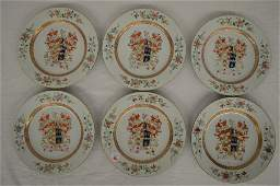 """6 CHINESE EXPORT PLATES 9"""""""
