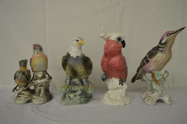 4HAND MODELED BIRD FIGURINES 2 JSC, ONE BESWICK AND ONE