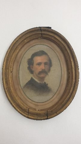 Period Watercolor Portrait, Possibly John Wilkes Booth,