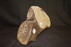 Native American Stone Carving Signed R. American Horse