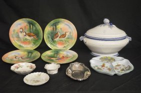 Porcelain Grouping Includes Limoges Dinner Plates With