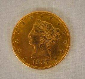 1907 10 Dollar American Gold Piece