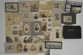 Grouping Of 19th Century Photographs; Includes,
