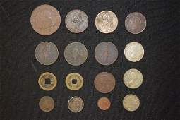 GROUPING OF AMERICAN AND FOREIGN COINS INCLUDES 3