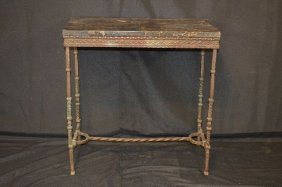 18th Century Italian Hand Wrought Bronze Stand With