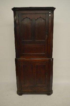 18th Century Black Walnut Corner Cupboard