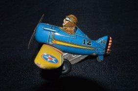 Marx Tin Lithograph Airplane