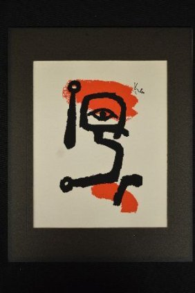"Silk Screen Print By Paul Klee ""kettledrummer""; 10"" X"