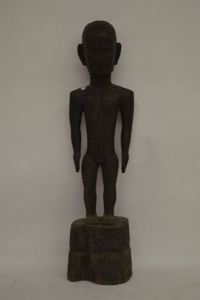 4 Foot Carved African Hardwood Figure