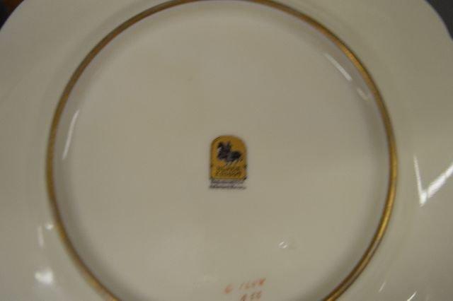 "36 PIECES BLACK KNIGHT CHINA, 14 9""DINNER PLATES, 12 - 3"