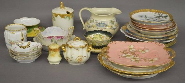 40 HAND PAINTED  LIMOGES AND CONTINENTAL PORCELAINS