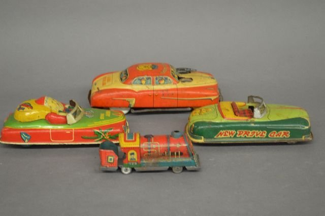 TIN LITHOGRAPHED TOY VEHICLES AND PLANES - 2