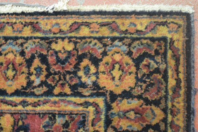 "ANTIQUE PERSIAN AREA CARPET ; 79"" x 52"" - 2"