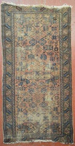 """ANTIQUE PERSIAN CARPET 73"""" x 38"""""""