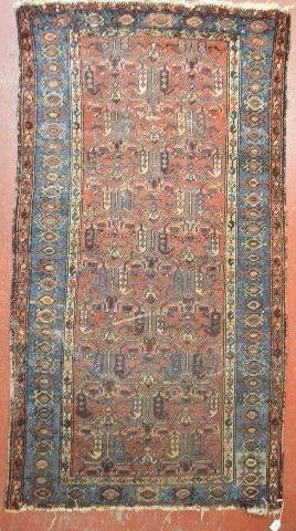 """ANTIQUE PERSIAN CARPET 75"""" x 40"""""""