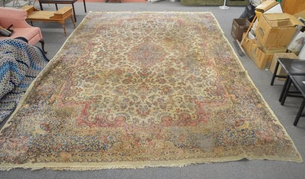 """HUGE PALACE SIZE ANTIQUE PERSIAN RUG; 16' 7"""" x 12' 11"""""""