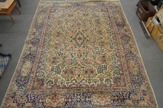ROOM SIZE ANTIQUE PERSIAN RUG; 12' x 8' 9""