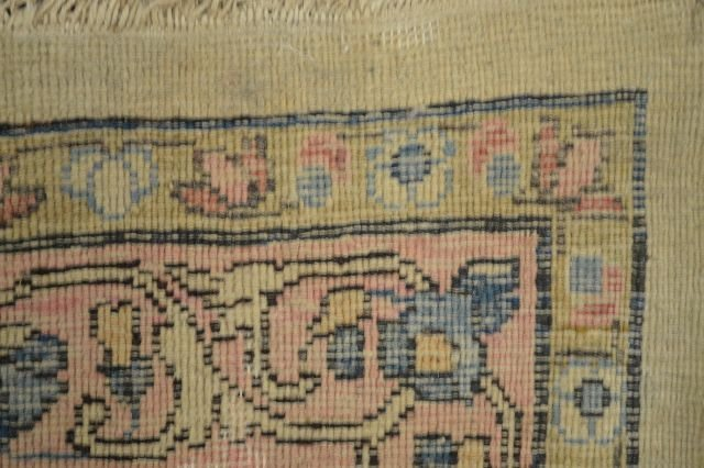 """ROOM SIZE ANTIQUE PERSIAN RUG; 12' x 8' 9"""" - 3"""