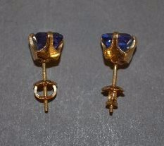 PAIR OF 14K TANZANITE EARRINGS - 2