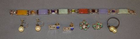 LOT OF STERLING JEWELRY; 27.2GRAMS