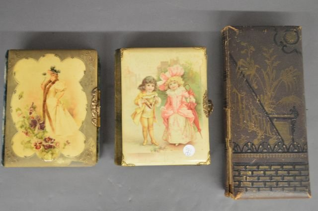 LOT OF 3 VICTORIAN PHOTO ALBUMS