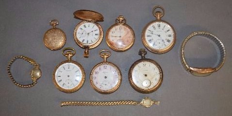 VICTORIAN GOLD FILLED POCKET AND WRIST WATCHES