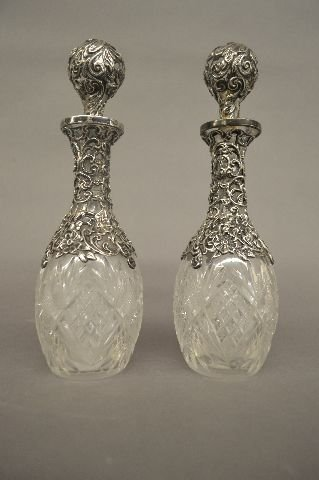 3 CONTINENTAL STERLING SILVER OVERLAID BOTTLES - 4