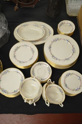 SERVICE FOR 6+BELVIDERE CHINA INC 8 DINNER PLATES, 9