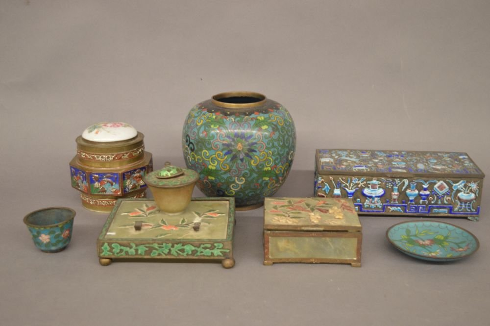 LOT OF CHINESE CLOISSONE ITEMS