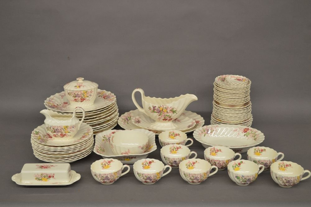"SERVICE FOR 12 SPODE ""FAIRY DELL"" CHINA"