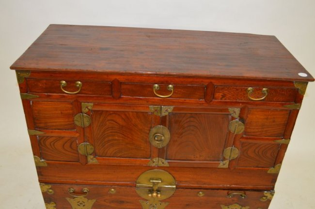 19TH CENTURY CHINESE CHIPPENDALE CHEST. 3 DRAWERS OVER - 3