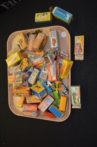 40+ MATCHBOX CARS AND BOXES