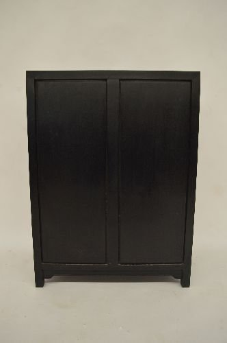CARVED HARDWOOD SMALL DISPLAY CUPBOARD - 4