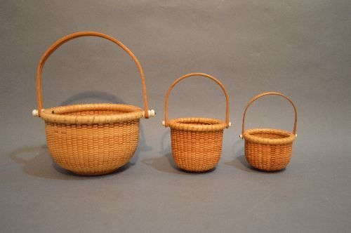 "3 SIGNED NANTUCKET BASKETS; 6"" AND SMALLER"