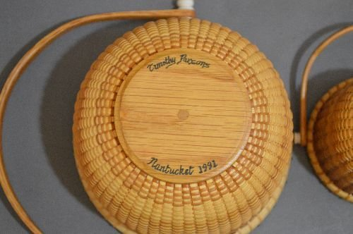 "3 SIGNED NANTUCKET BASKETS; 6"" AND SMALLER - 3"