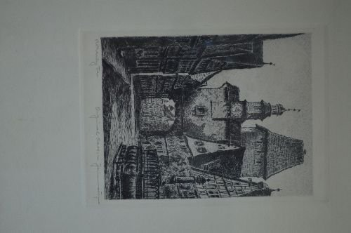 4 ARTIST SIGNED PRINTS; D.H.M., JAMES L THOMPSON, ETC; - 2