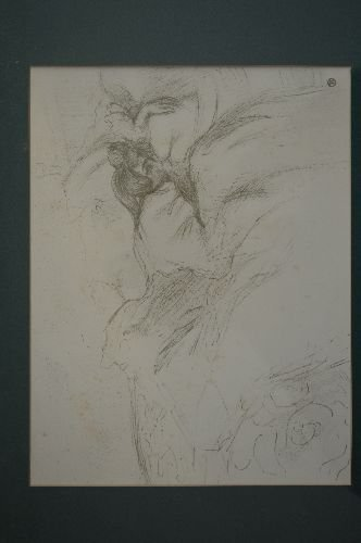 """PENCIL SKETCH OF A WOMEN LYING IN BED; 11"""" x 8"""" SITE - 2"""