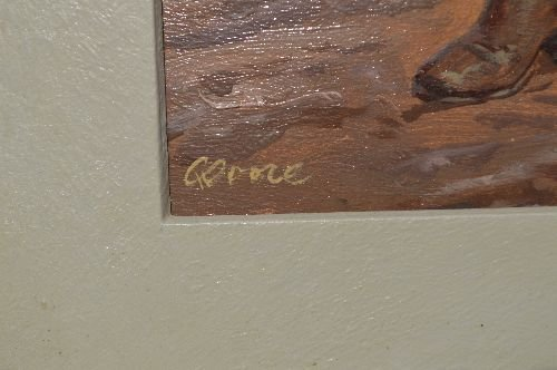 """CLARENCE DOOER OIL PAINTING OF """"WHIP SMART COWGIRL"""" - 4"""