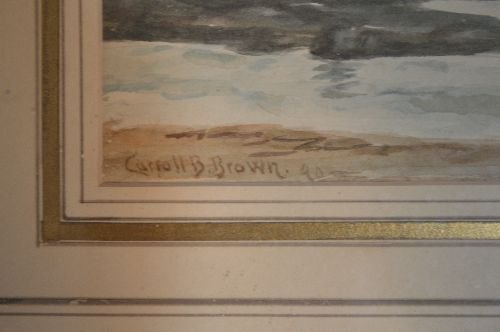 SIGNED WATERCOLOR CARROLL BUTLER BROWN SEASCAPE AND - 3