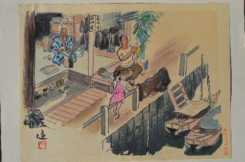 "10 JAPANESE WOODBLOCK PRINTS; 18"" x 14 1/2"" - 2"