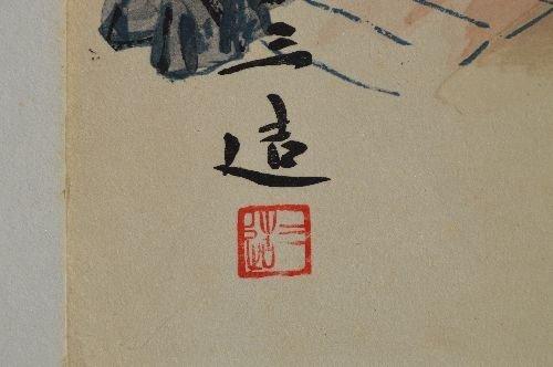 "10 JAPANESE WOODBLOCK PRINTS; 18"" x 14 1/2"" - 3"