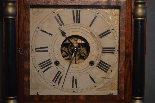 19TH CENTURY 3 PART CASE CLOCK, BRASS WORKS MARKED B.M. - 2