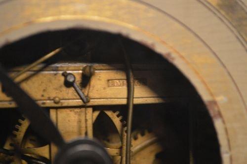19TH CENTURY 3 PART CASE CLOCK, BRASS WORKS MARKED B.M. - 4