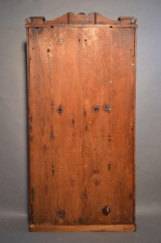 19TH CENTURY 3 PART CASE CLOCK, BRASS WORKS MARKED B.M. - 6
