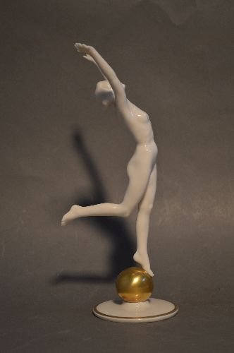 """8 1/2"""" NUDE PORCELAIN FIGURE OF A WOMAN BY - 2"""