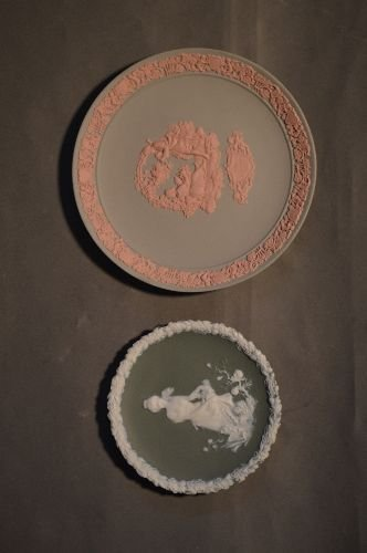 "10 PIECES OF MOSTLY WEDGWOOD JASPERWARE; 5 1/2"" AND - 10"