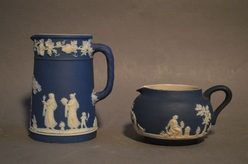 "10 PIECES OF MOSTLY WEDGWOOD JASPERWARE; 5 1/2"" AND - 5"