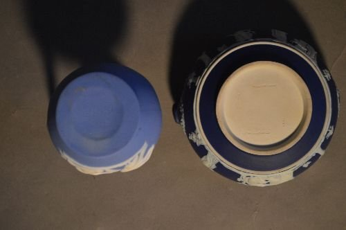 "10 PIECES OF MOSTLY WEDGWOOD JASPERWARE; 5 1/2"" AND - 8"