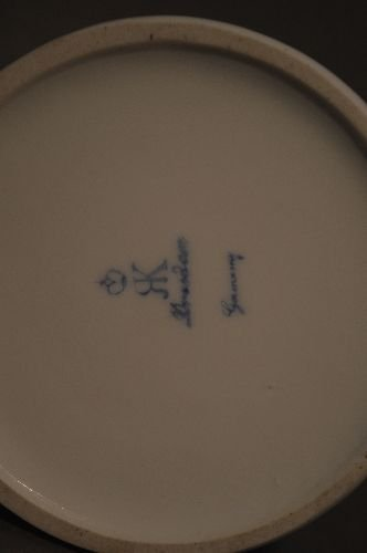 """4 PIECES EARLY DRESDEN PORCELAIN; 7 1/2"""" AND SMALLER - 10"""
